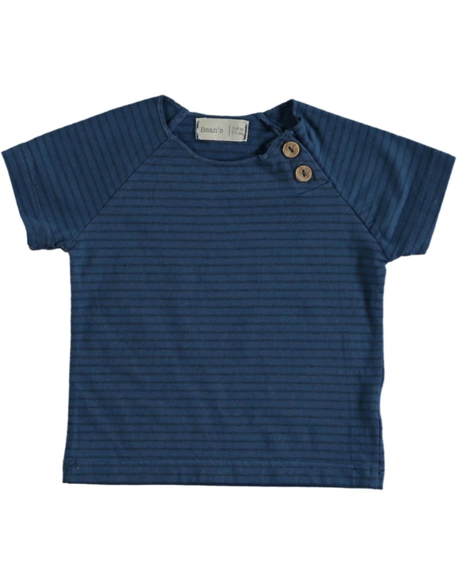 Beans Barcelona Beans Barcelona CLOWNFISH-Striped Jersey T-shirt Blue