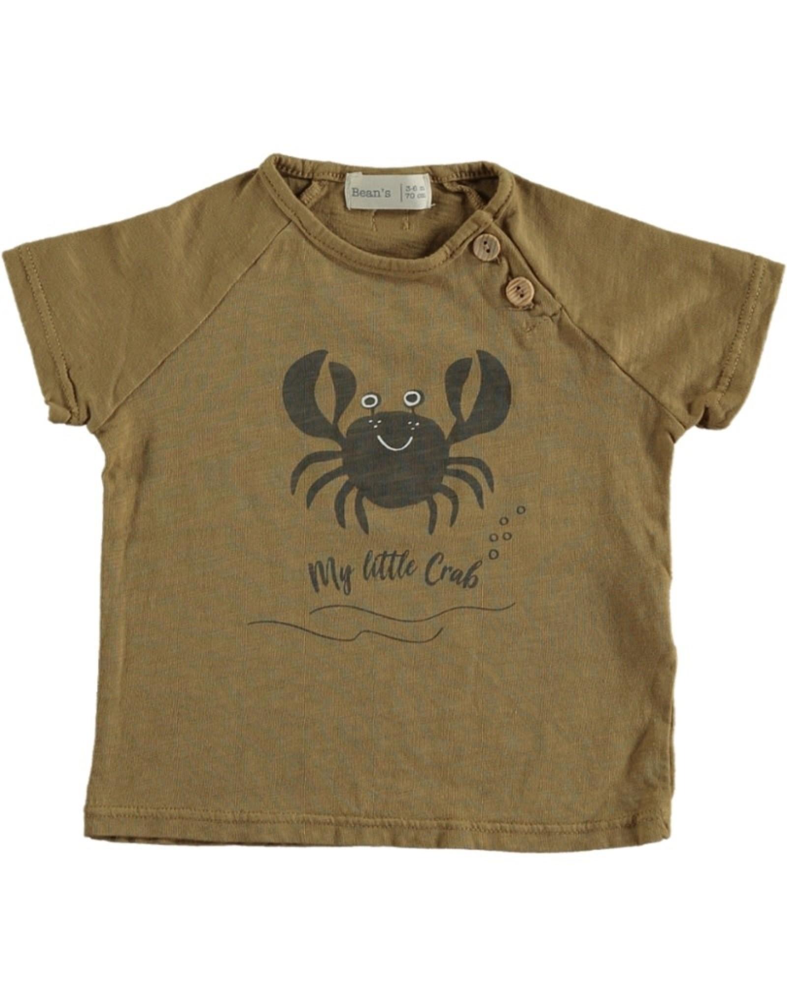 Beans Barcelona Beans Barcelona CLOWNFISH-Crab Cotton T-shirt Camel