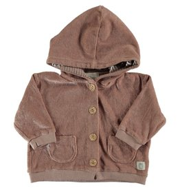 Beans Barcelona Beans Barcelona BOAT-Terry Hoded Jacket Pink