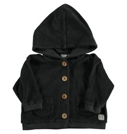 Beans Barcelona Beans Barcelona BOAT-Terry Hoded Jacket Antraciet