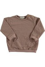 Beans Barcelona Beans Barcelona GULL-Striped Summer Fleece Sweatshirt Pink