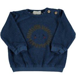 Beans Barcelona Beans Barcelona GULL-Sun Terry Sweatshirt Blue