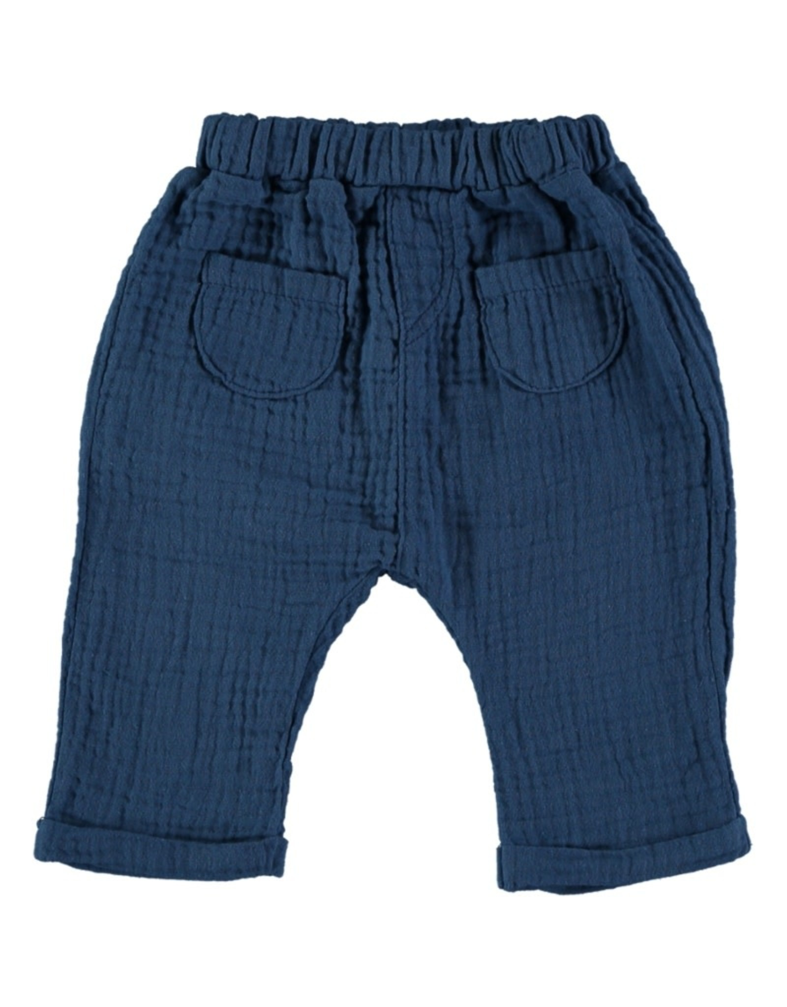 Beans Barcelona Beans Barcelona WAVES-Bambula Pants With Pockets Blue