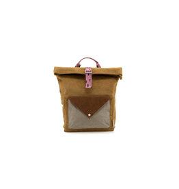 Sticky lemon Sticky Lemon Backpack Large - Corduroy Envelope - Dijon + Gingerbread + Bubbly Pink