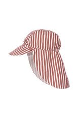 Lassig Lassig Sun Protection Flap Hat Stripes Red