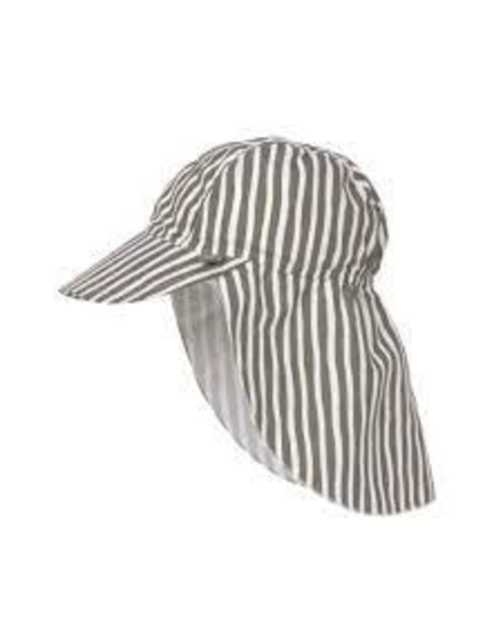 Lassig Lassig Sun Protection Flap Hat Stripes Olive