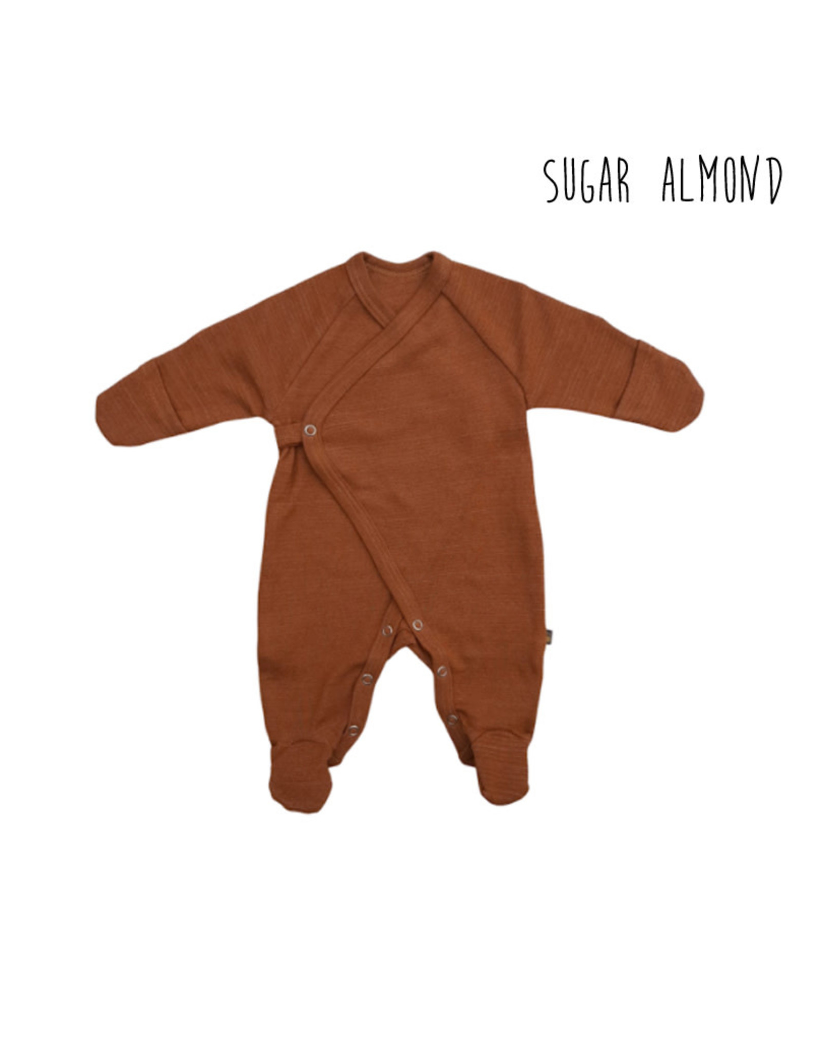 Forgaminnt Forgaminnt Pyjama met Voetjes (wrap) Sugar Almond 0-3m