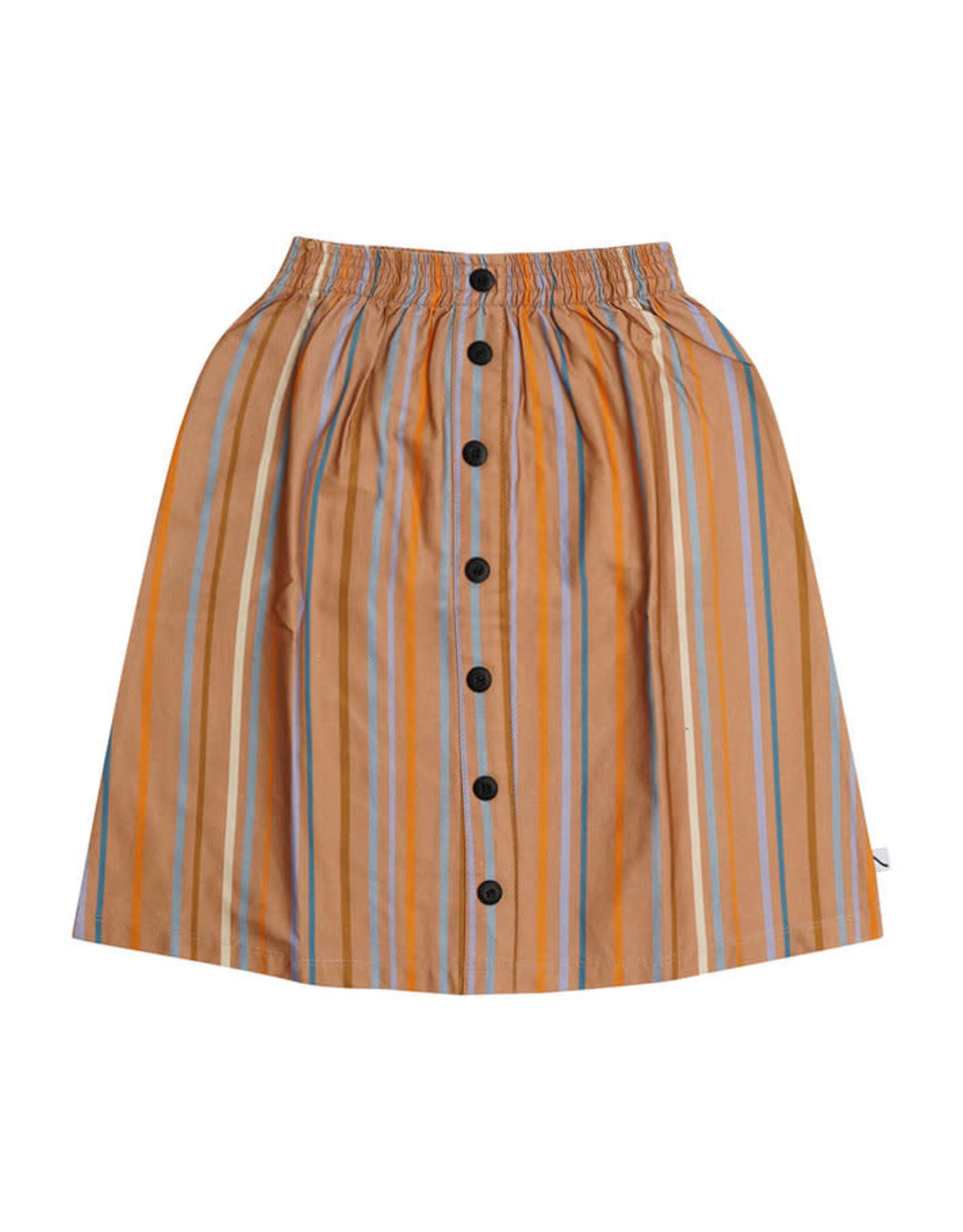 Carlijn Q Carlijn Q Long Multi color stripes skirt with buttons