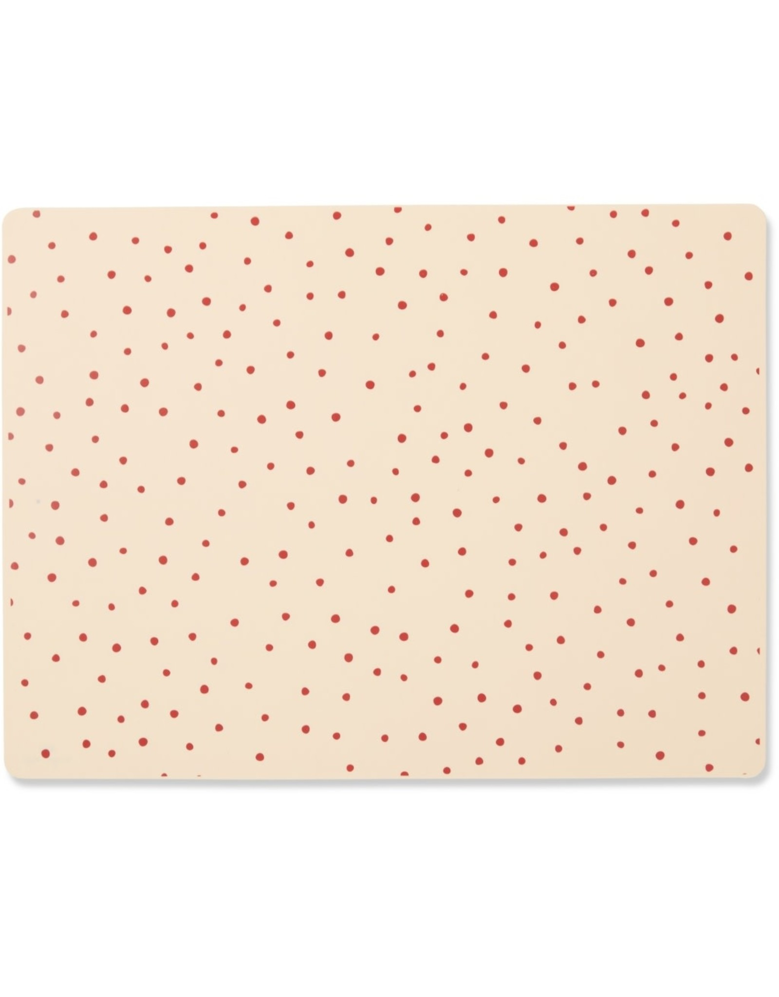 Konges Slojd Konges Slojd Placemat Silicone Rasberry/Red Dot