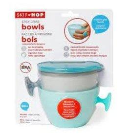 SkipHop Skip Hop Easy-grab bowls : grey/soft teal