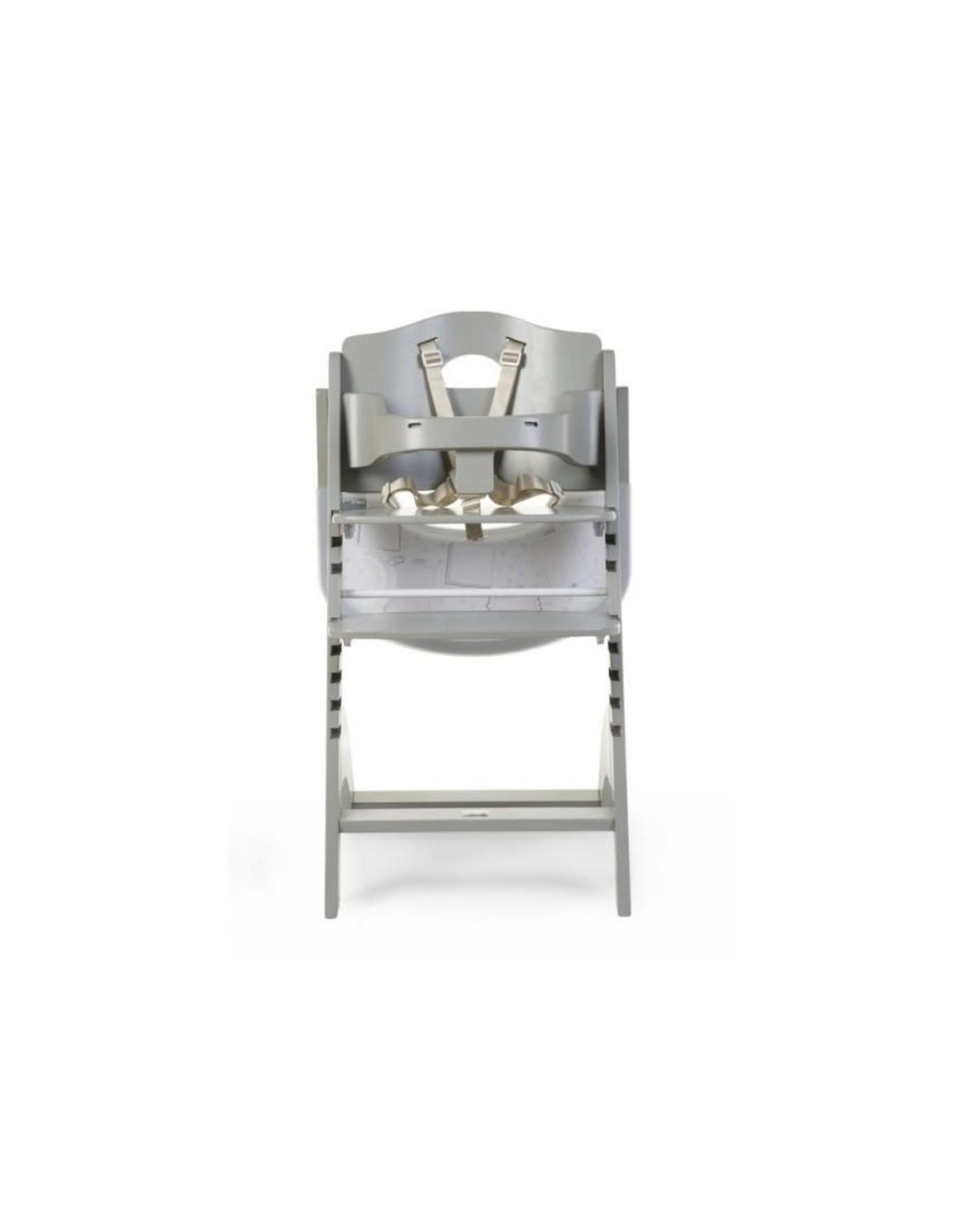 Childhome Childhome Lambda 3 Baby Kinderstoel + Eettablet - Hout - Stone Grijs