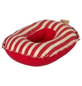 maileg Maileg Rubber boat, Small mouse - Red stripe