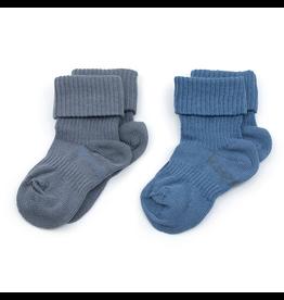 KipKep KipKep Bio Stay-On-Socks -Denim Blue