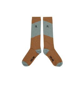 Carlijn Q Carlijn Q Knee Socks - Diagonal Brown/Blue