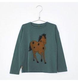 Lötiekids Lötiekids Log Sleese T-Shirt Green Horses