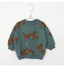 Lötiekids Lötiekids Baby Sweatshirt Green Horses