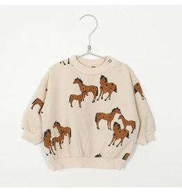 Lötiekids Lötiekids Baby Sweatshirt Cream Horses