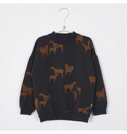 Lötiekids Lötiekids Sweatshirt Vintage Black Horses
