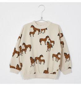 Lötiekids Lôtiekids Sweatshirt Cream Horses