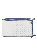 Fresk Fresk Baby Bed Bumper Diagonals Indigo Blue (180cm)