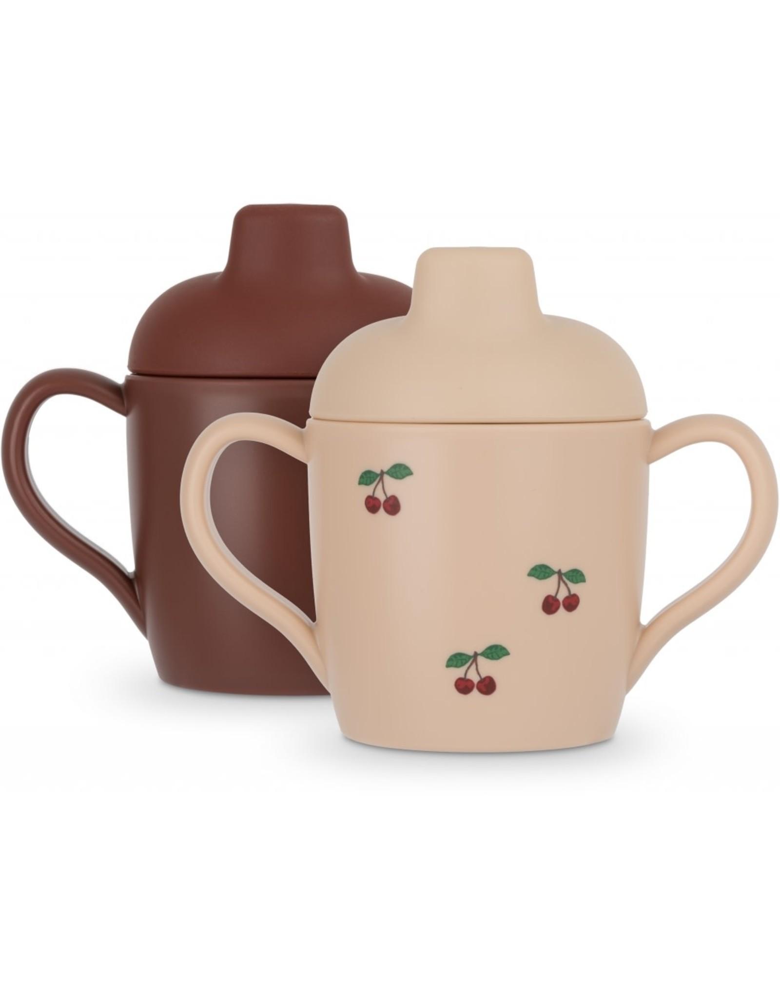 Konges Slojd Konges Slojd - 2 Pack Sippy Cup - Cherry