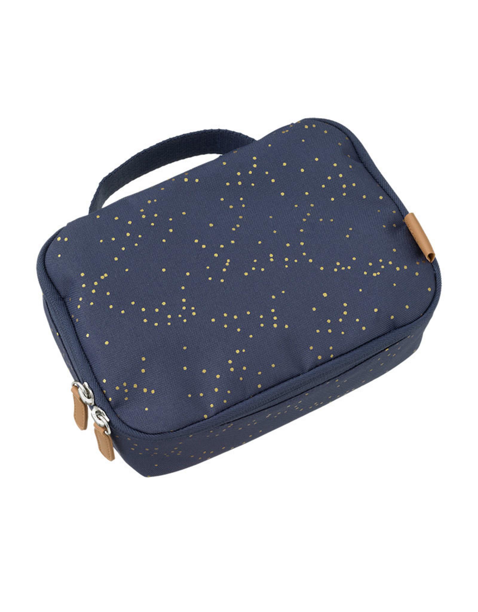 Fresk Fresk Lunchbag Indigo Dots Gold
