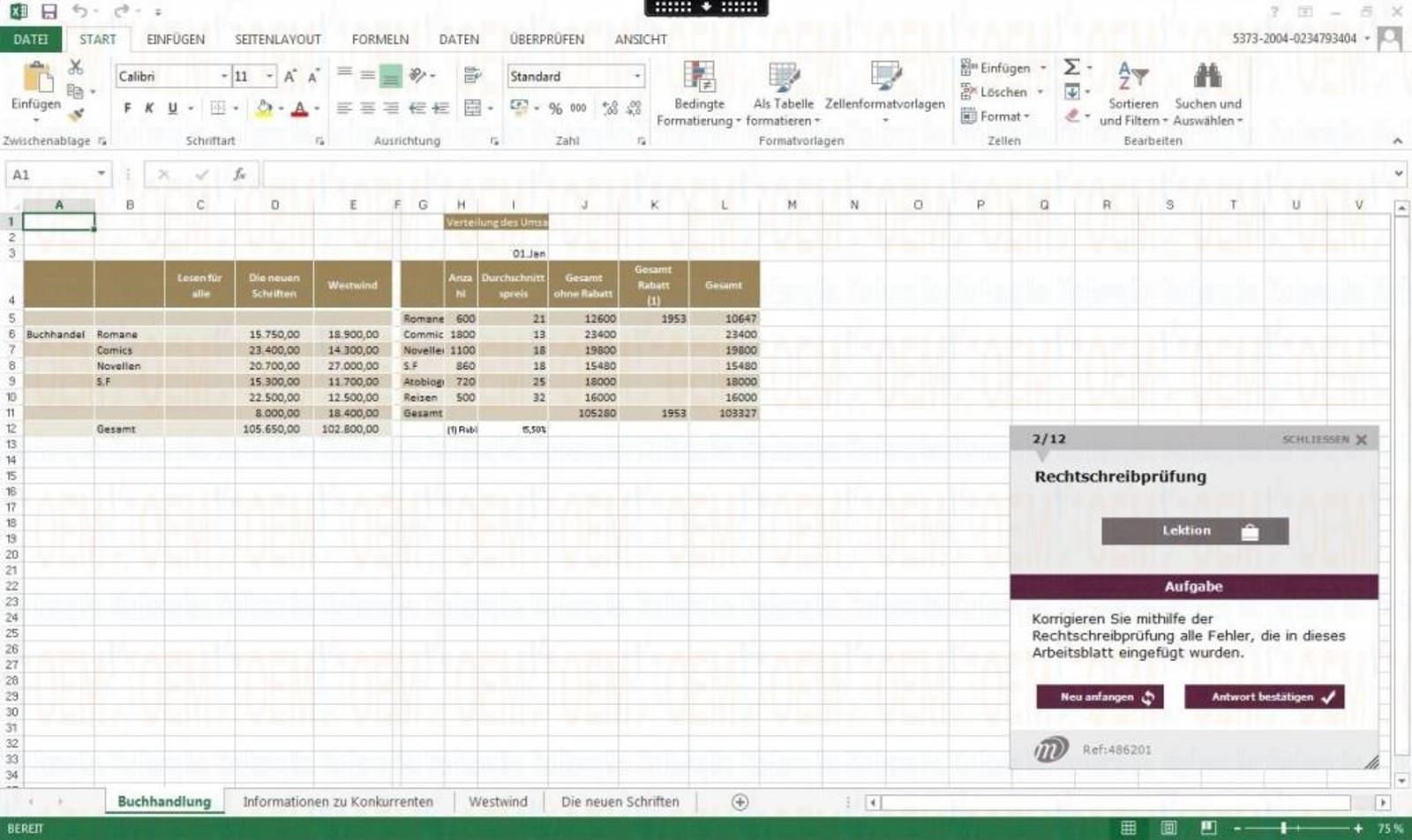 Microsoft Excel E-Learning Excel 2010 Kurs Fortgeschrittene