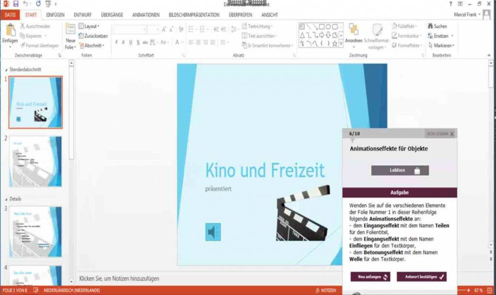 Microsoft PowerPoint E-Learning PowerPoint 2013 Kurs Profi