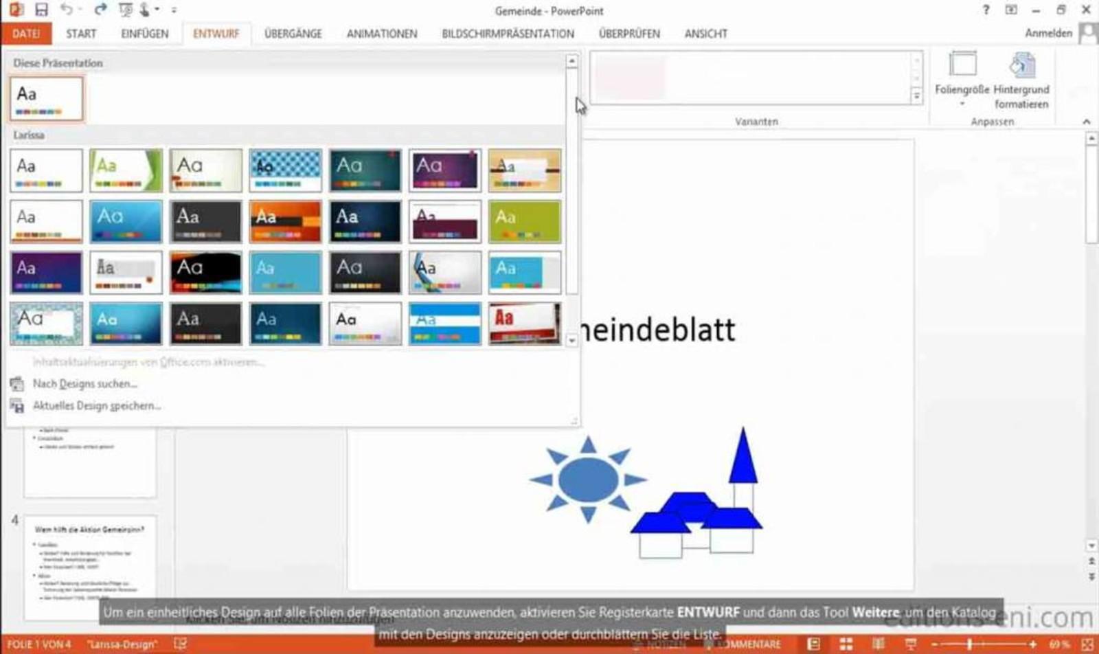 Microsoft PowerPoint E-Learning PowerPoint 2010 Kurs Anfänger und Fortgeschrittene