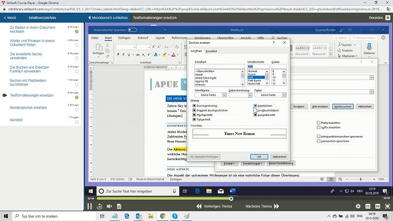 Microsoft Office 365 Word Anfänger + Fortgeschrittener