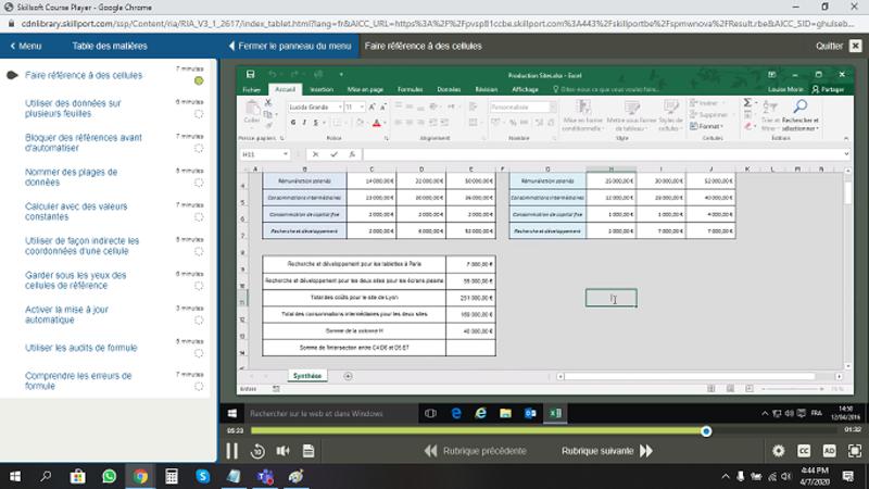 Excel 2016 Débutant Intermédiaire Expert FR