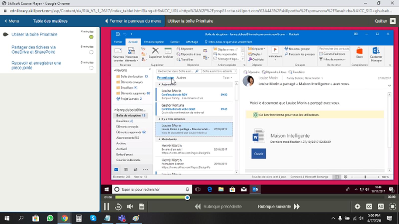 Microsoft Outlook Outlook 2016 Débutant Intermédiaire Expert FR
