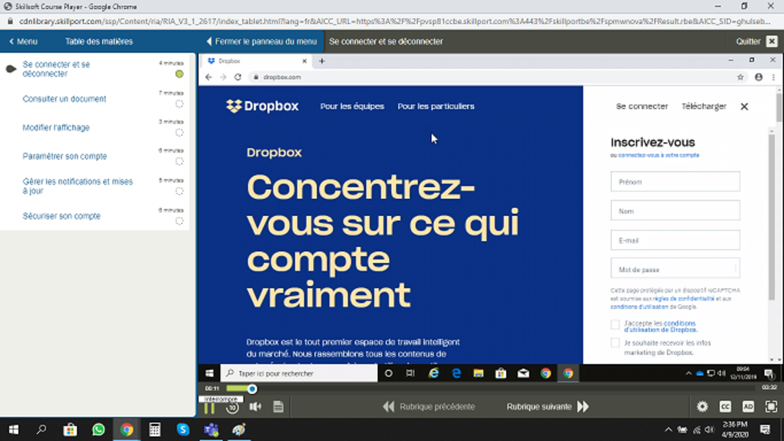 Dropbox Paper E-Learning Cours FR