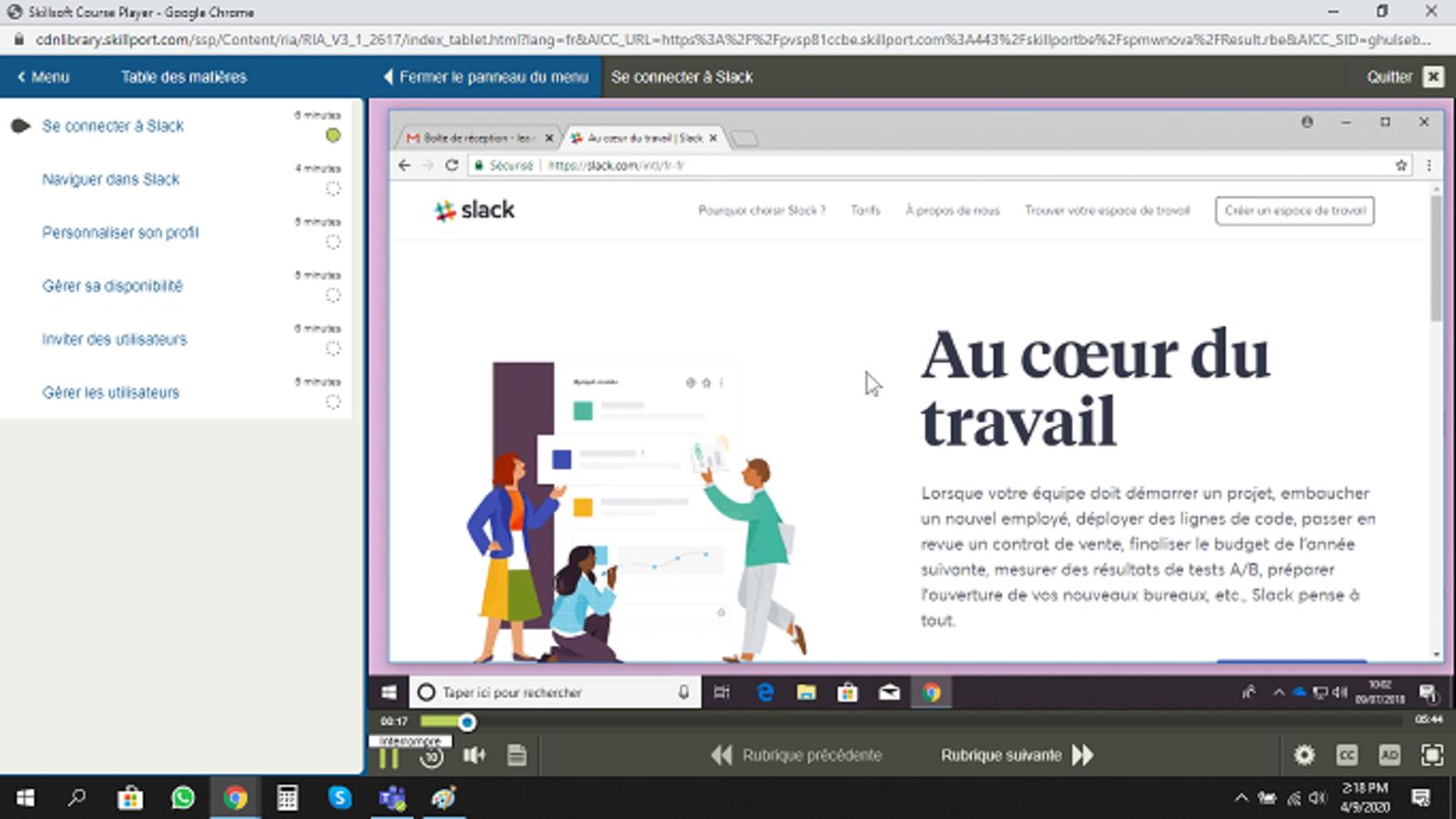 Slack E-Learning Cours FR