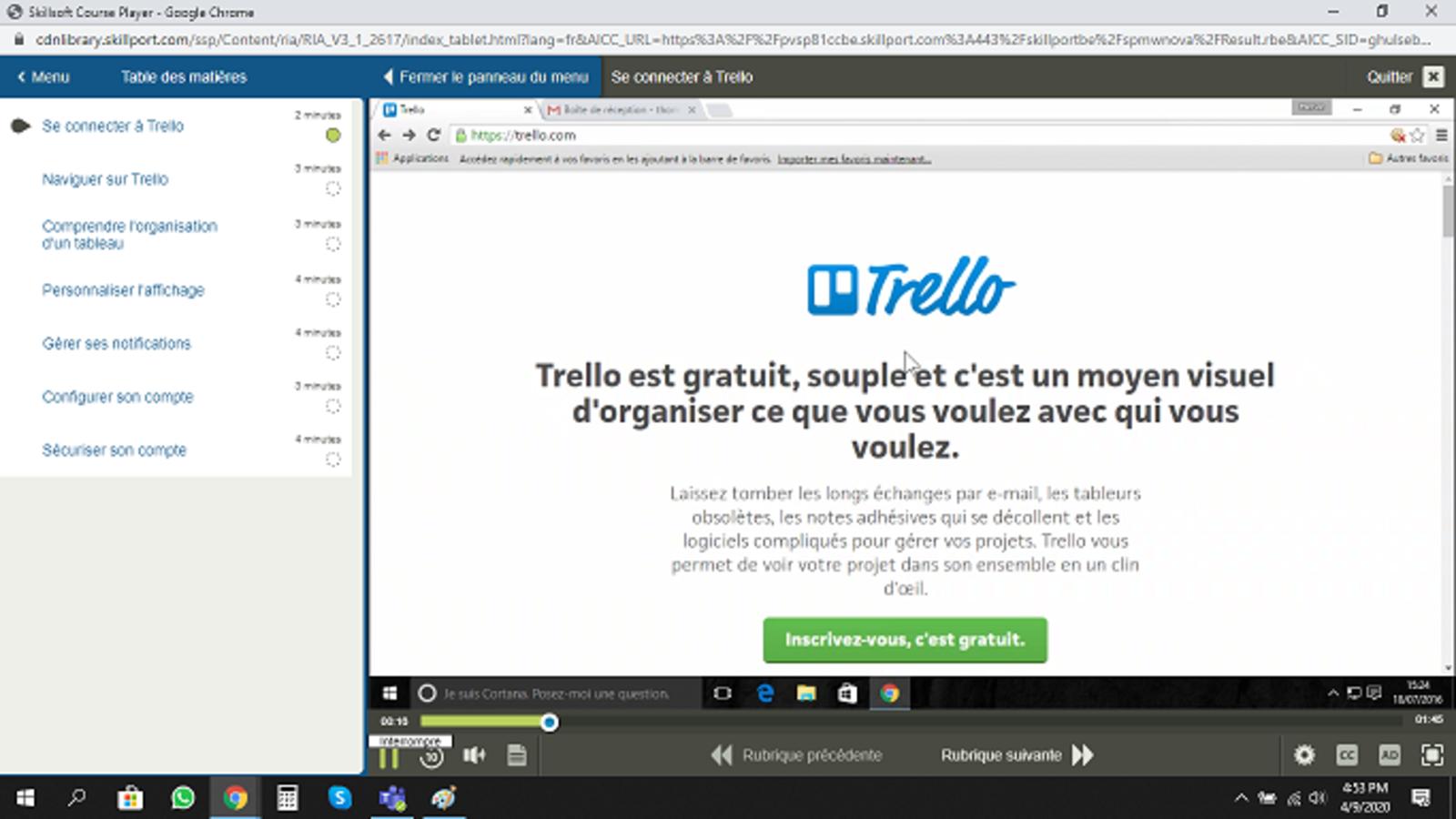 Trello E-Learning Cours FR