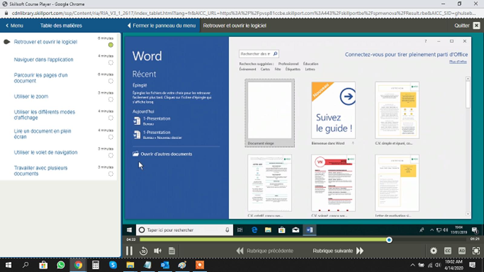 Microsoft Word Word 2019 Basique FR