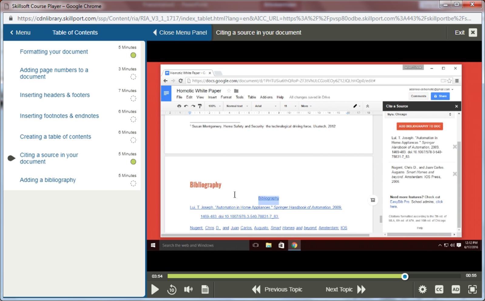 Google Google Docs E-Learning Kurs