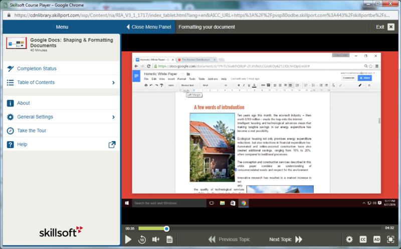 Google Docs E-Learning Kurs