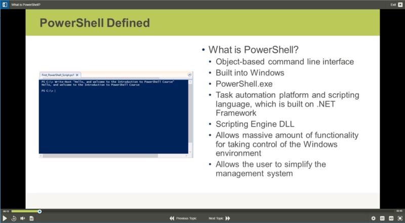 PowerShell for Windows Server 2016 E-Learning Kurs