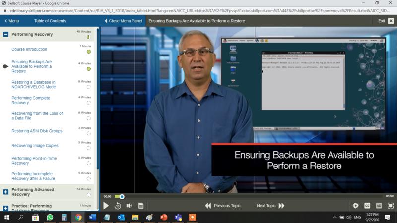 Oracle Database 11g Secure Backup E-Learning Kurs