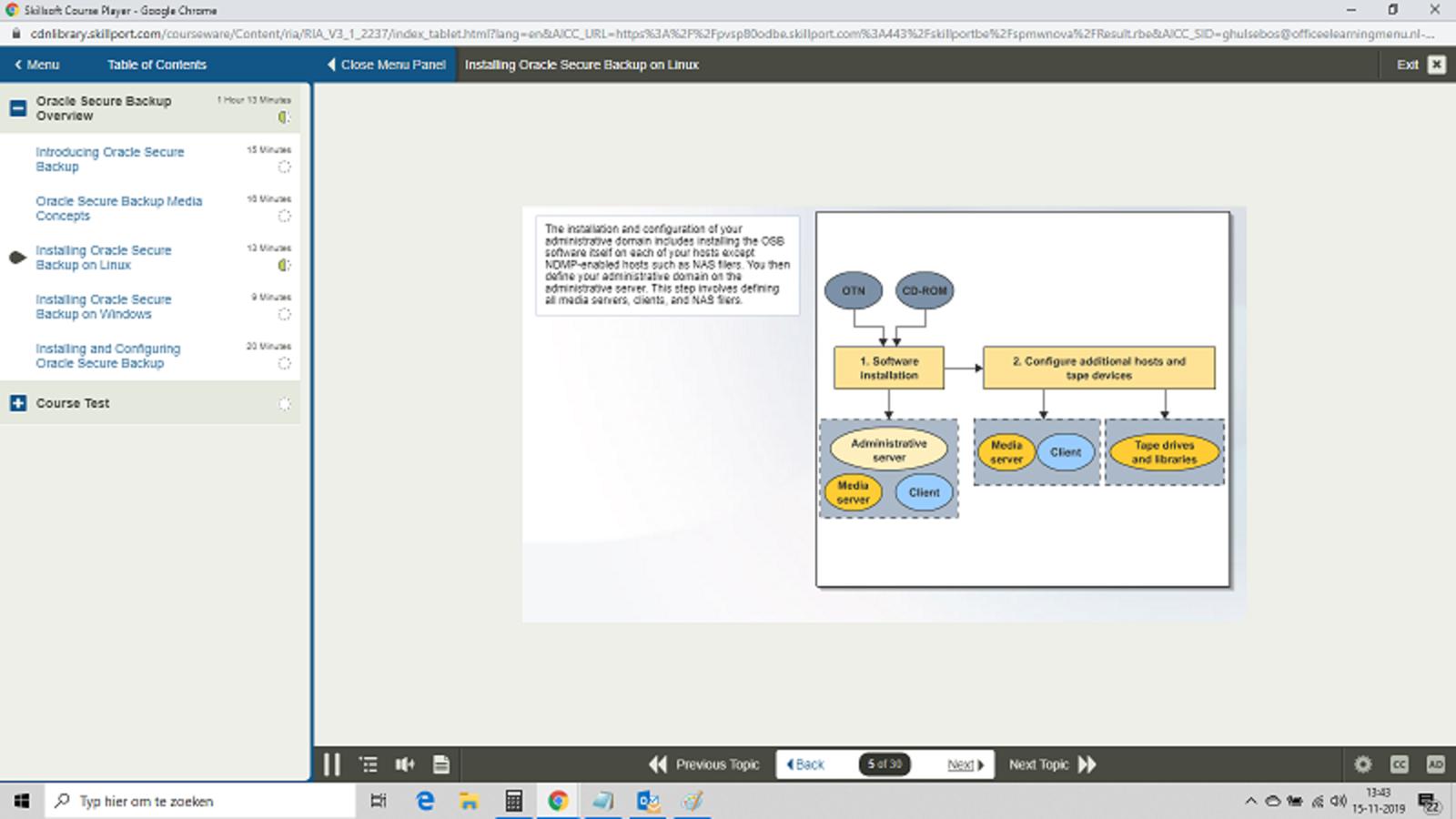 Oracle Corporation Oracle Database 11g Secure Backup E-Learning Kurs