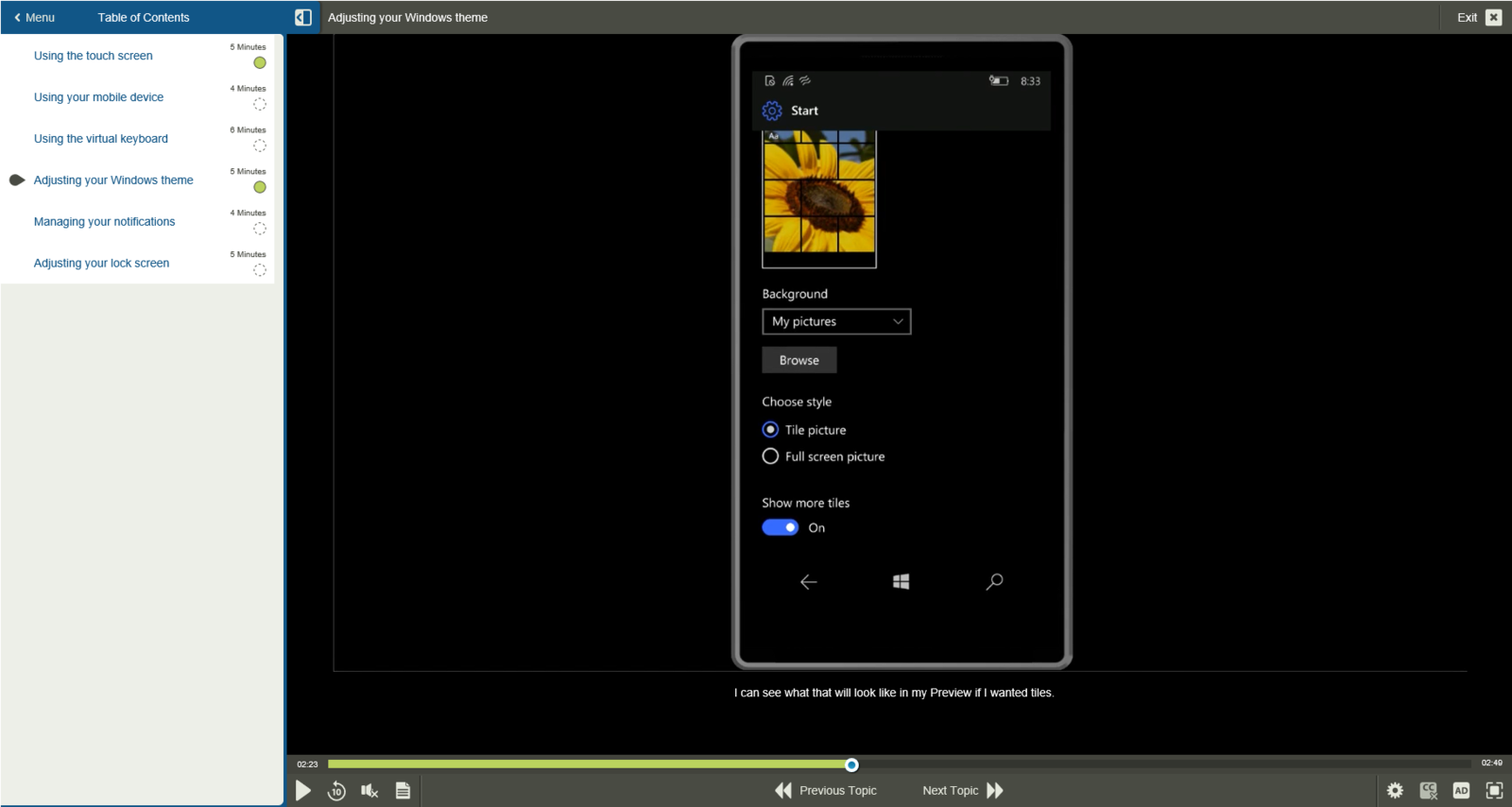 Microsoft Windows Microsoft Windows 10 Mobile E-Learning Kurs