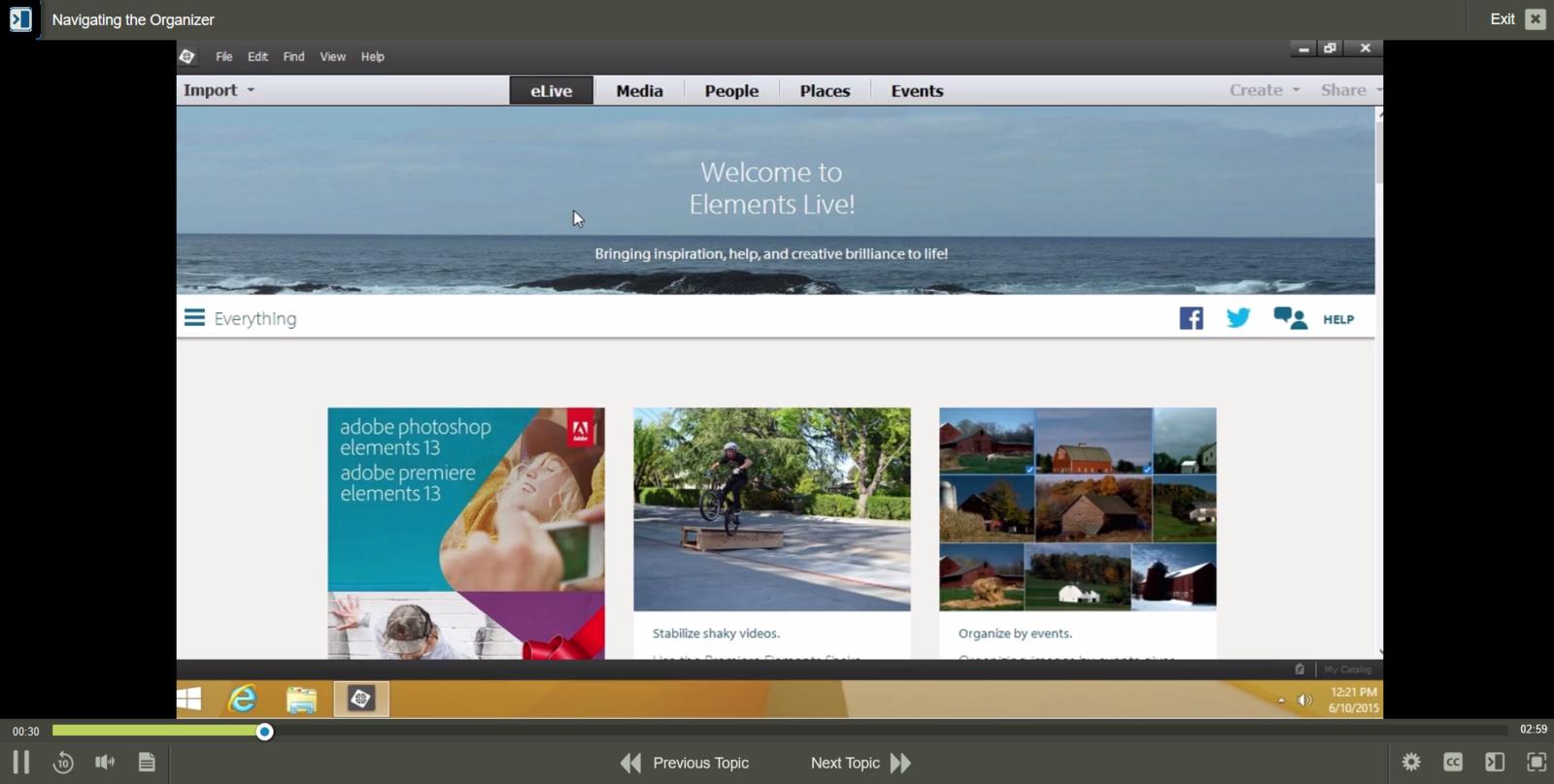 Adobe Adobe Premiere Elements 13 E-Learning Kurs