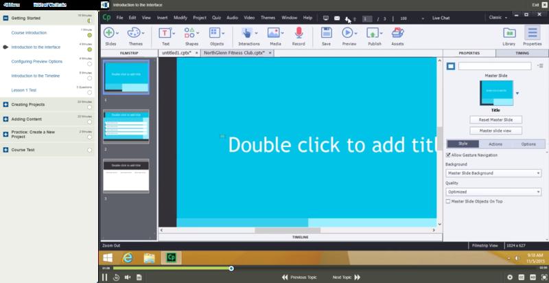 Adobe Captivate 9 E-Learning Kurs