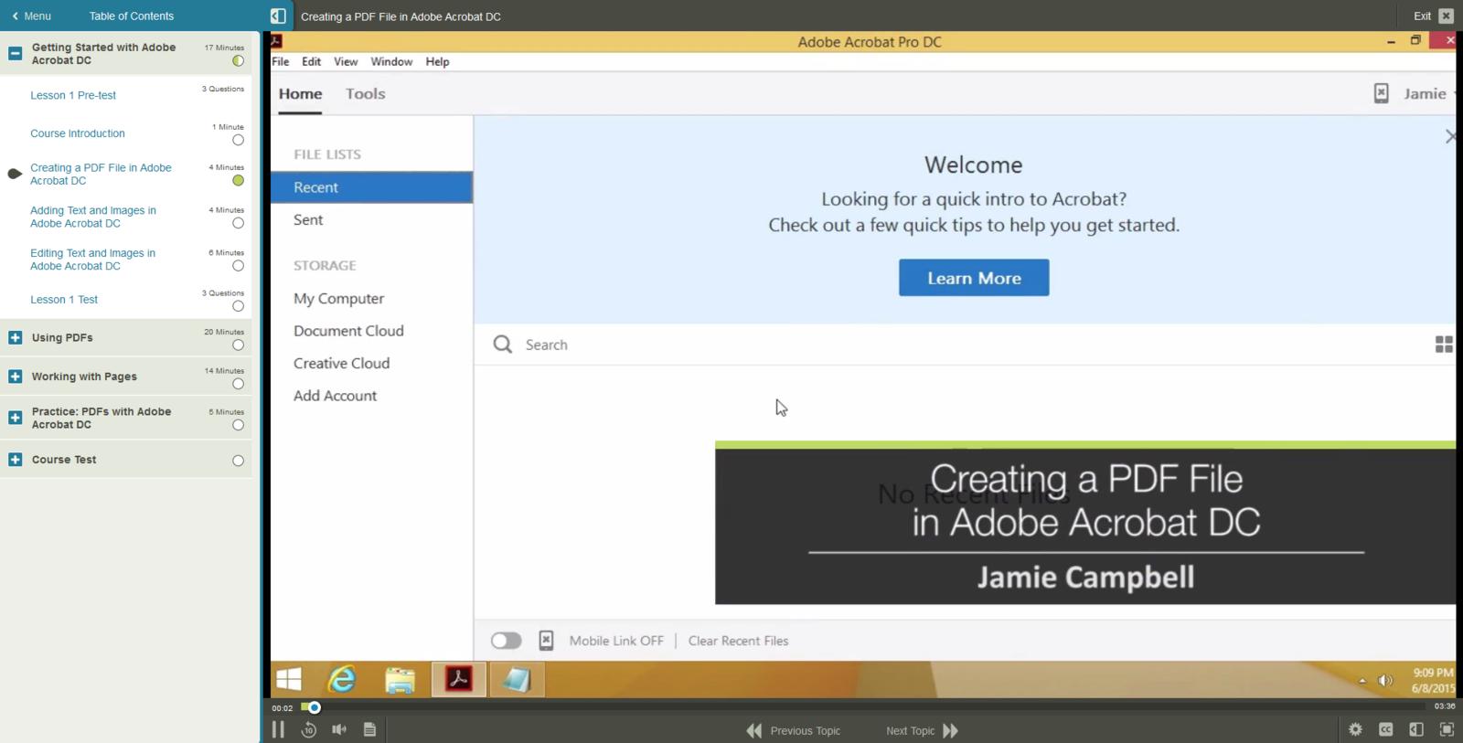 Adobe Adobe Acrobat DC E-Learning Kurs