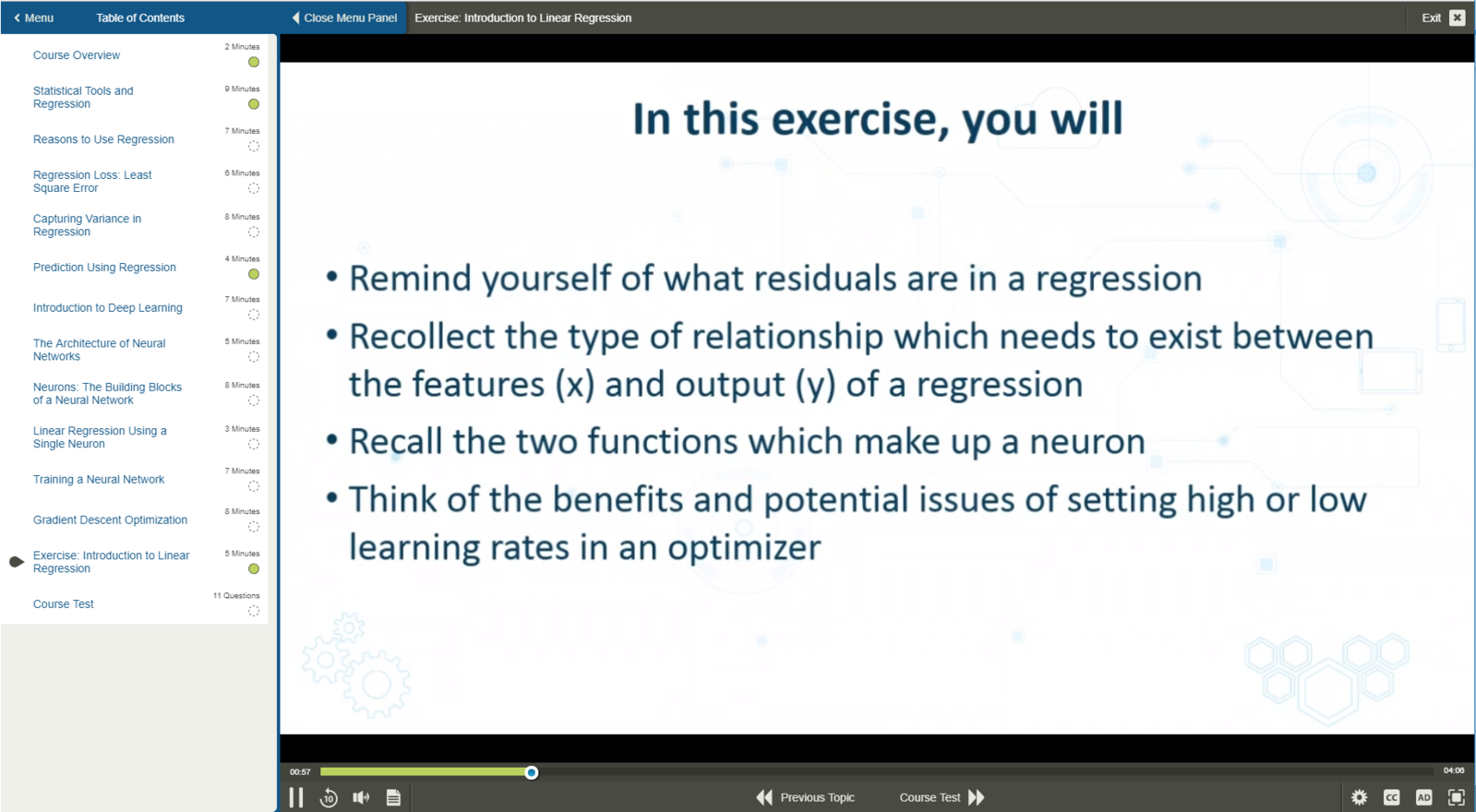 Machine Learning Linear Regression Models E-Learning Kurs