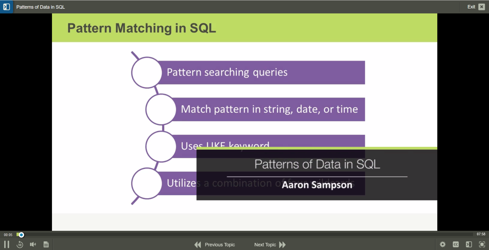 Microsoft SQL Server Introduction to SQL E-Learning Kurs