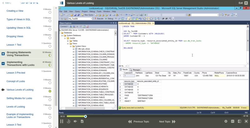 Introduction to SQL E-Learning Kurs