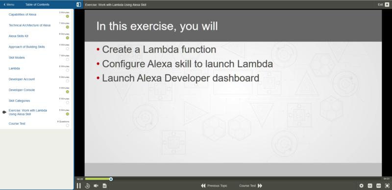 Development Skills for Alexa E-Learning Kurs