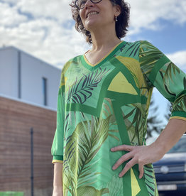 Signe Nature Groen print kleed